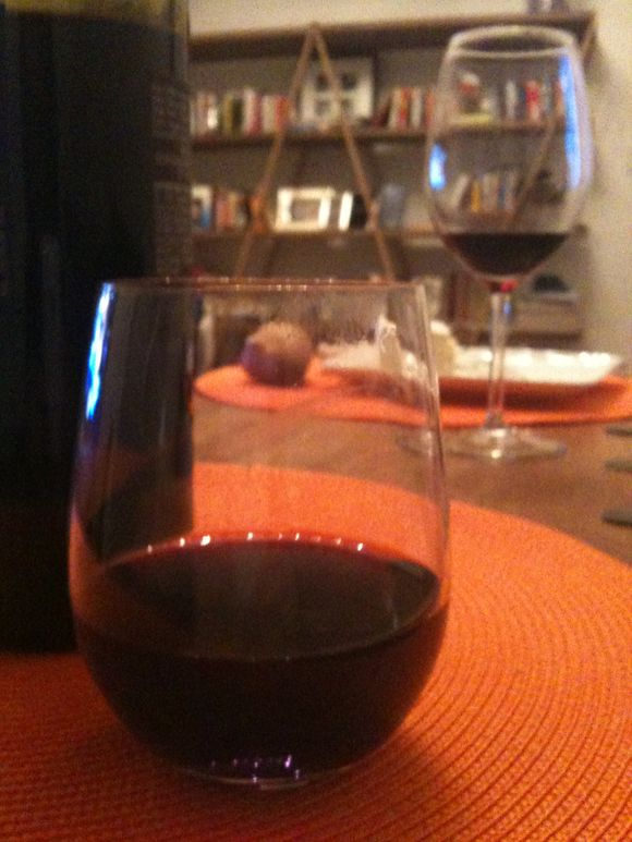 Finishing the day with a glass of wine - life is good!